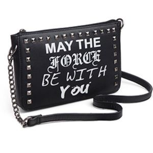 Purse black Starwars May the force be with you NWT